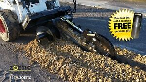 Blue Diamond Trencher Skid Steer Attachment 36 With 4 Rock Chain
