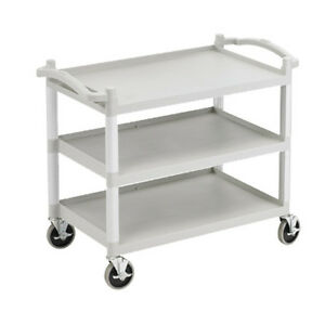 Cambro Bc340kd480 Open Design 3 Shelf Utility Cart speckled Gray