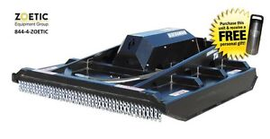 Blue Diamond Brush Cutter Skid Steer Attachment Ex Closed Front Low Flow 60