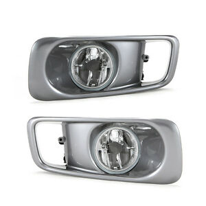 Clear Fog Lights For 1999 2000 Honda Civic Sedan Coupe With Bezel Switch Wiring