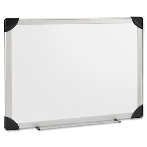 Lorell Aluminum Frame Dry Erase Board 48 4 Ft Width X 96 8 Ft Height