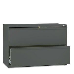 Hon 800 Series Two drawer Lateral File 42w X 19 1 4d X 28 3 8h Charcoal