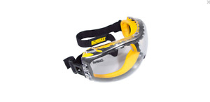 Dewalt Concealer Clear Anti fog Goggle Safety Glasses Protection Eye wear Padded