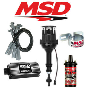 Msd Black Ignition Kit Digital 6a distributor wires coil Ford 351w Small Cap