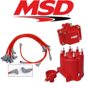 Msd Ignition Tuneup Kit 87 95 Chevy Gmc Ext Coil 5 0 5 7l Cap Rotor Coil Wires