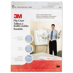 3m Professional Flip Chart Pad Unruled 25 X 30 White 40 Sheets 2 carton