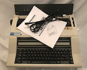 Nakajima Electric Typewriter Ae 710 With Manual Made In Usa