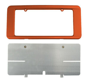 C6 Corvette Custom Painted Rear License Plate Frame Sunset Orange 71 Wa633h