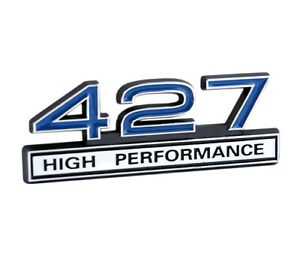 427 7 0 Liter Engine High Performance Emblem Badge Logo With Chrome Blue Trim