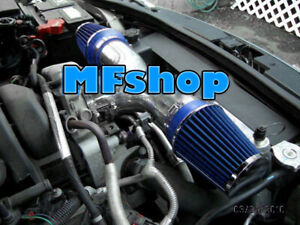 Blue Dual For 1999 2004 Jeep Grand Cherokee 4 7l V8 Twin Air Intake System Kit