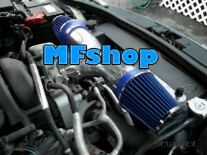 Blue Dual For 2002 2007 Dodge Ram 1500 4 7l V8 Twin Air Intake System Kit