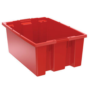 Akro mils Nest Stack Tote 35200 Red 19 1 2 X 13 1 2 X 8 6 Pk