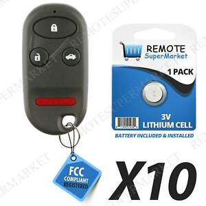 Lot 10 Wholesale Bulk Entry Remote Key Fob For Acura 99 03 Tl Honda 98 02 Accord