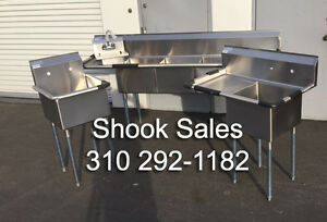 Stainless Sink Package Inc 3 Comp Food Prep Left Drain Mop And Hand Sink Nsf