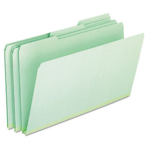Pendaflex Pressboard Expanding File Folders 1 3 Cut Top Tab Legal Green