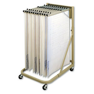 Safco Steel Sheet File Mobile Rack 12 Hanging Clamps 27w X 37 1 2d X 61