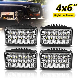 4x6 For Kenworth Peterbilt Led Headlights 357 379 378 Hi lo Seal Beam H4651