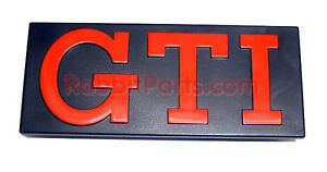 Vw Mk1 Rabbit gti Front Grille Badge Emblem Red metallic Golf 1 Gti