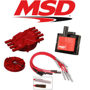Msd Ignition Tuneup Kit 96 00 Chevy Gmc Vortec 7400 454 Cap Rotor Coils Wires