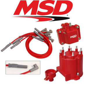 Msd Ignition Tuneup Kit 1990 95 Chevy Gmc Truck 454 7 4l Cap Rotor Coil Wires