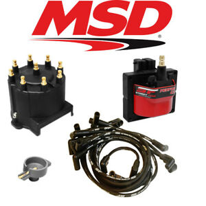 Msd Streetfire Tuneup Kit 1987 95 Chevy Gmc Truck 5 0 5 7 Cap Rotor Coil Wires