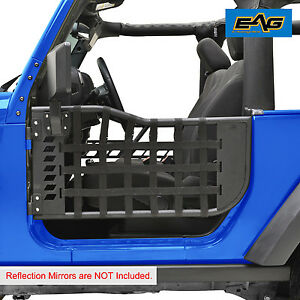 Eag Black Trail Matrix 2 Tubular Doors Without Mirror For 07 17 Jeep Wrangler Jk