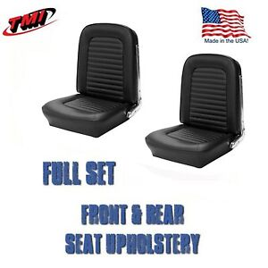 1966 Mustang Fastback Front Rear Seat Upholstery Black Tmi in Stock