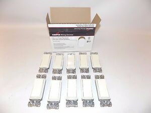 50 pack New Cooper 15 Amp 120 Volt Single Pole Light Switch Lite Almond 7501la