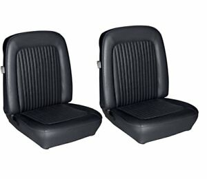 1968 Mustang Front Bucket Seat Upholstery Black Made By Tmi In Stock