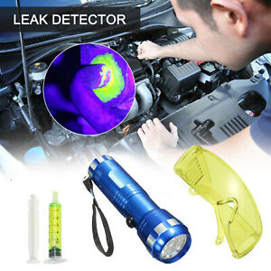 Universal Car Ac Tool Leak Detector Dye System Glasses 28 Led Light Uv Fluid Gas