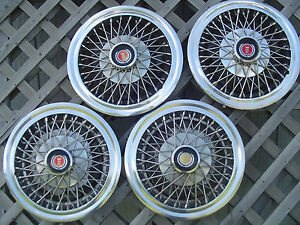 Ford Mustang Ltd Fairmont Granada Wire Hubcaps Wheelcovers Classic Vintage