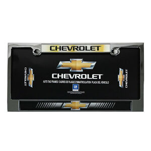 New Chevy Bowtie Elite Heavy Duty Chrome Metal Car Truck Suv License Plate Frame