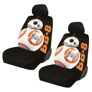New Disney Star Wars Bb 8 Car Truck 2 Front Seat Covers With Headrest Covers