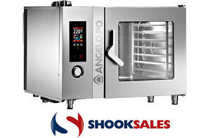 Angelo Po Commercial 8 Full Pan Electric Convection Steam Combi Oven Fx82e3t