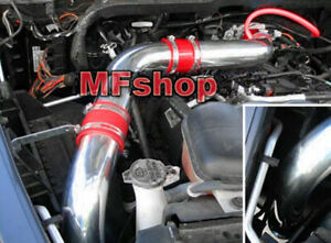 Red For 3pc 2003 2008 Dodge Ram 1500 2500 3500 5 7l V8 Cold Air Intake