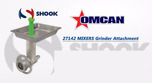 Omcan C812hcplss 27142 12 Stainless Steel Meat Grinder Attachment Hobart Mixers