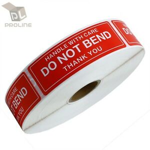 10 Rolls 1 X 3 Do Not Bend Handle With Care Stickers 1000 Per Roll