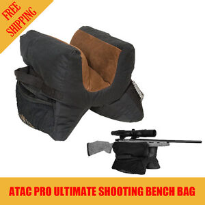 AtacPro Ultimate Unfilled Shooter's Gun Rest Sand Bag Shooting Bench Steady Hunt