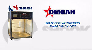 Omcan Dw cn 0457 20427 Commercial Pizza Food Warmer Display Case 4 Shelf s Ny