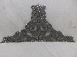 Pair Antique Cast Iron Grapevine Shelf Corbels Brackets Old Vtg Hardware 126 17r