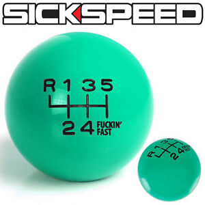 Mint Green Fing Fast Shift Knob For 6 Speed Short Throw Shifter 10x1 5 K14