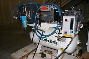 1 Used Powerex Sts050142 Air Compressor 30 Gallon 15660