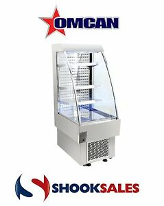 Omcan Rs cn 0230 40438 Open Air 8 1cf 24 Refrigerated Grab And Go Display Ny