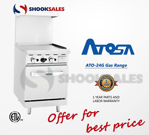 Atosa Ato 24g Ng 24 Gas Range 24 Griddle With 20 Stove Etl In Stock