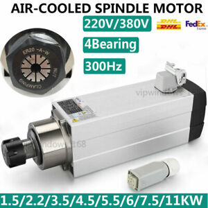 1 5kw 11kw Cnc Spindle Motor Air Cool Vfd Inverter 220 380v High Speed 18000rpm