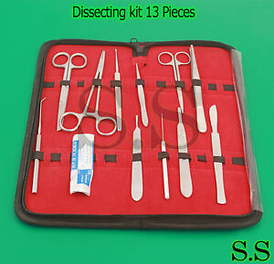 Dissecting Kit Dissection Set Anatomy Kit 13 Pcs For Medical Students Ds 772