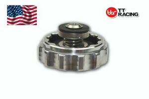 Aluminum Billet Radiator Cap 32mm Water Neck Chrome Cap With O Ring