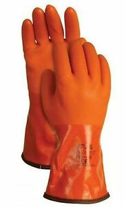 6 Pack Atlas Showa 460 Vinylove Cold Resistant Insulated Pvc Gloves
