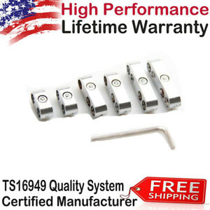 Pal New 7mm 8mm Car Chrome Spark Plug Wire Separators Dividers Looms For Ford Us