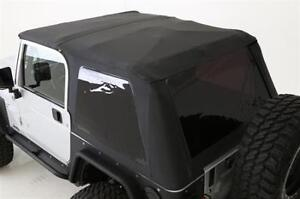 Bowless Soft Top Combo For Jeep Wrangler Tj 97 06 Oe Replacement Black 9973235
